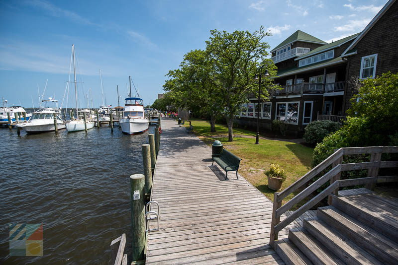 The waterfront in Manteo NC