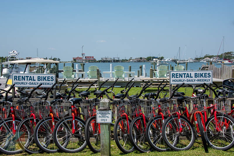 Bike and golf cart rentals are plentiful on Ocracoke Island