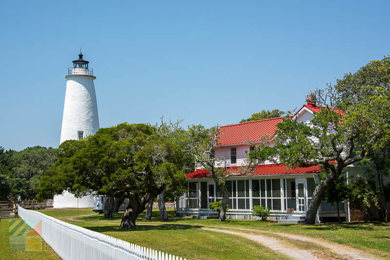 The 65' tall Ocracoke Island Lighthouse